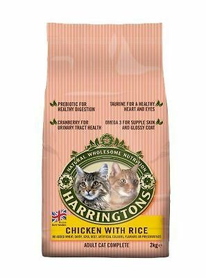 Harringtons Chicken and Rice Complete Cat Dry Food, Natural Wholesome Food 2kg