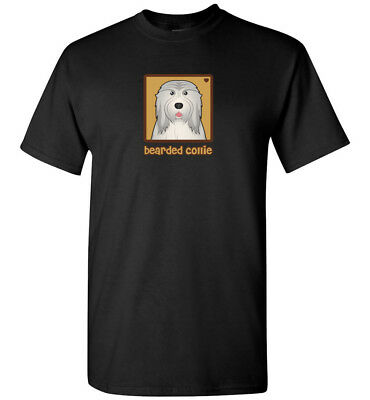 Bearded Collie Cartoon T-Shirt - Men, Women, Youth, Tank, Short, Long Sleeve