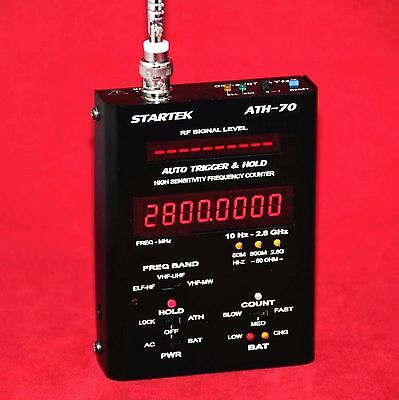 Startek Ath-70 Frequency Counter / 10Hz - 2.8Ghz / 12 Hr Bat Opr