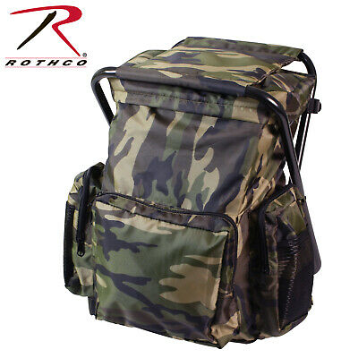 Backpack and Stool Combo Pack Woodland Camo 4548 Rothco