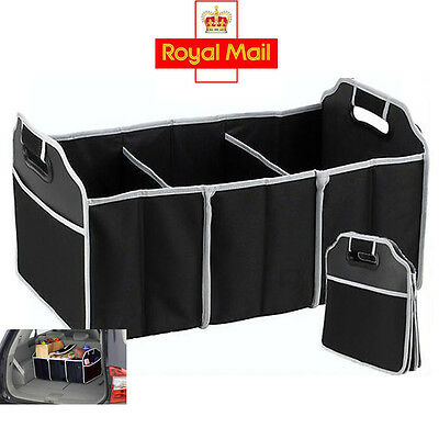 2in1 Car Boot Organiser Shopping Tidy Heavy Duty Collapsible Foldable Storage UK