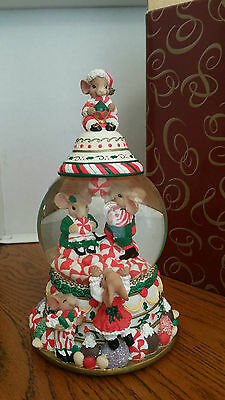 Christmas Dreams Candy Jar Musical Water Globe by Shelly S. Rasche