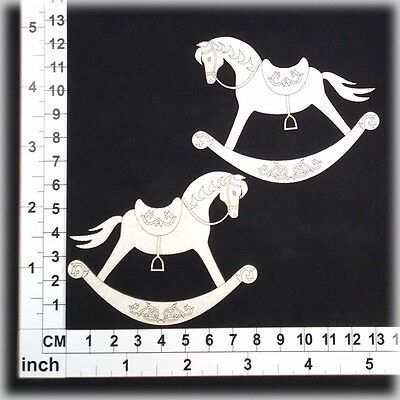 Chipboard Embellishments for Scrapbooking, Cardmaking - Rocking Horses 16057w