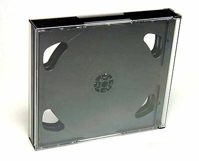 Pack de 8 CAJAS JEWEL SEXTUPLES - 6 CD - 24 mm - ESTUCHES DVD BLURAY