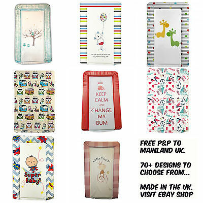 Deluxe Quality Padded Vinyl Baby Changing mat, many designs.Boy/Girl. Made in UK