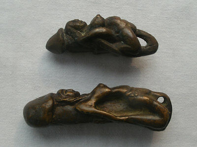 2 Old Lingam Amulets from Cambodia