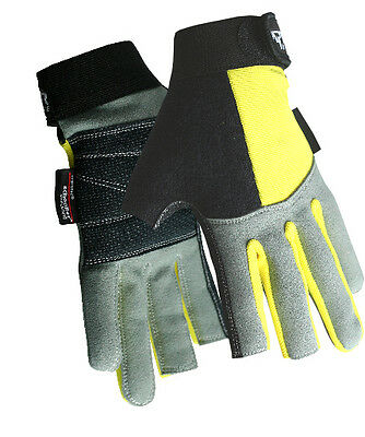 Reinforced Padded Palm Ocean/Sea Fishing/Angling Aramid/Kevlar 2 Digit Gloves