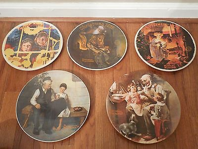 NORMAN ROCKWELL Limited Edition Christmas Plates 1977 1978 1979 and More Lot 5
