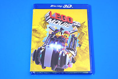 SEALED NEW THE LEGO MOVIE 3 Disc 3D Blu Ray 2D Blu Ray DVD UltraViolet HD Fast