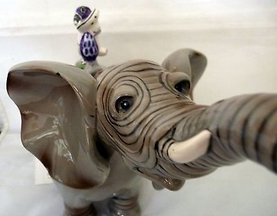 BLUE SKY CLAYWORKS  ELEPHANT SHAPED CERAMIC COLLECTABLE TEAPOT MOTHER'S DAY GIFT