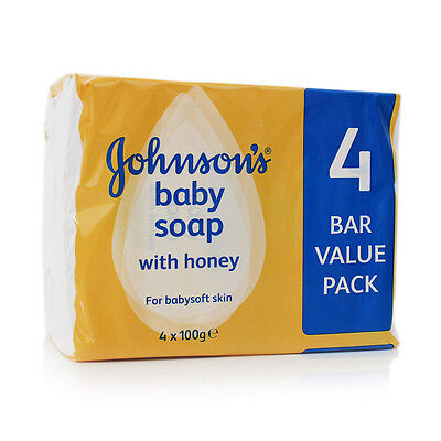 Johnson's Baby Soap with Honey x4