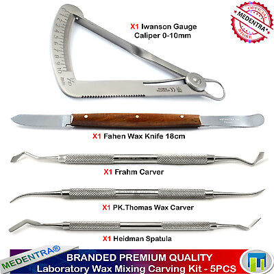 Medentra Dental Lab Waxing Carving Tools Kit Surgical Laboratory Students Kit