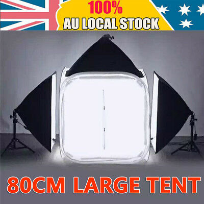 80cm Photo Photography Studio Softbox Cube Light Tent Soft Box + 4 Backdrops Kit