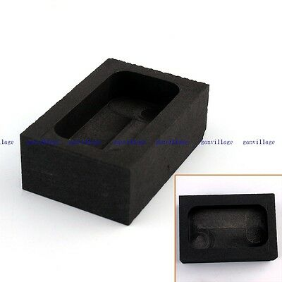 Rect High Purity Graphite Ingot Mold Melting Casting Refining 150G For Gold