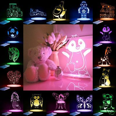 LED Night Light COLOUR CHANGE Remote control Sleepy Dreams Baby Kids ALOKA New