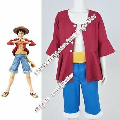 One Piece Two Years Later Monkey D Luffy Cosplay Costume