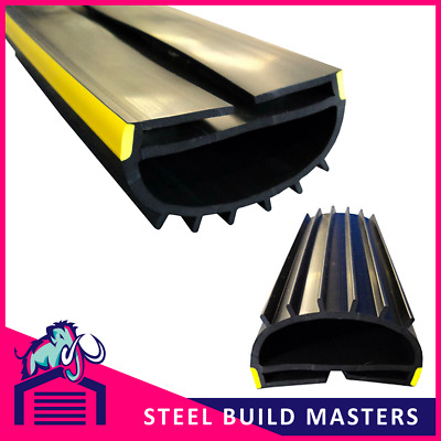 Roller Shutter Door Rubber Seal - Fits on to bottom T-bar. Weather Stop. WS0014