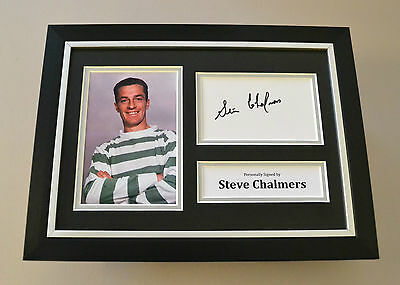 Steve Chalmers Signed A4 Photo Framed Display Autograph Celtic Memorabilia + COA