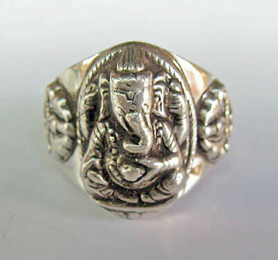 Pure Sterling Silver Sri Ganesh Ring - Assorted Sizes