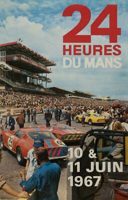 Le Mans 24h 1967  Race Car Classic Motorsport Large  Metal Tin Sign Poster