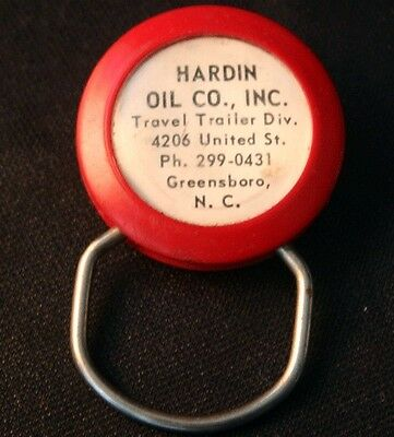 Vintage HARDIN OIL Co. Greensboro NC Adv. Key Chain