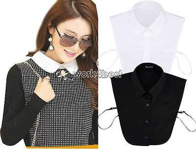 Fake False Decorative Half Shirt Blouse Detachable Collar Men Womens Accessories