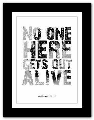 Jim Morrison ❤ typography quote poster art limited edition print The Doors #11