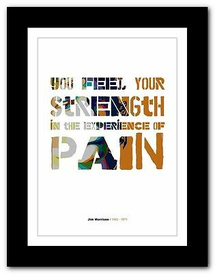 Jim Morrison ❤ typography quote poster art limited edition print The Doors #35