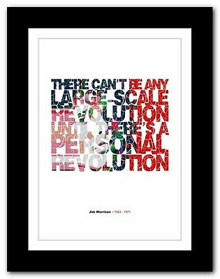 Jim Morrison ❤ typography quote poster art limited edition print The Doors #40