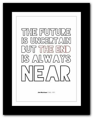Jim Morrison ❤ typography quote poster art limited edition print The Doors #50