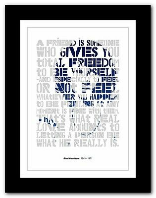 Jim Morrison ❤ typography quote poster art limited edition print The Doors #6