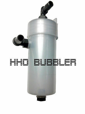HHO Plus Bubbler Tank with hose connections. Chemical resistant.