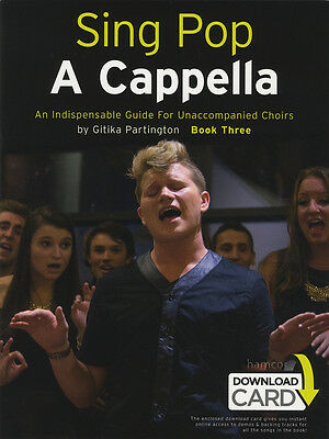 Sing Pop A Cappella Book 3 SATB Choir Vocal Music Book with Audio