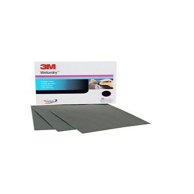 3-M 02036 Wet or Dry Abrasive Sheets 9 in x 11 in. P600 Grit 50 sheets per pack