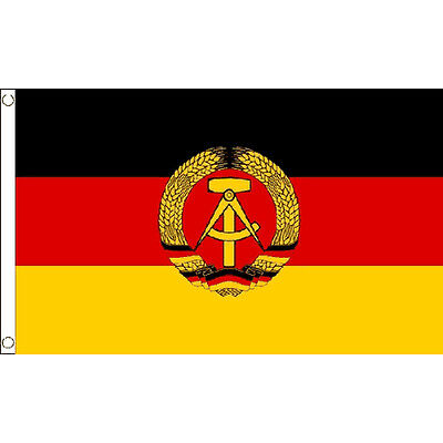 East Germany Flag 5Ft X 3Ft Ddr German State European Banner With 2 Eyelets New