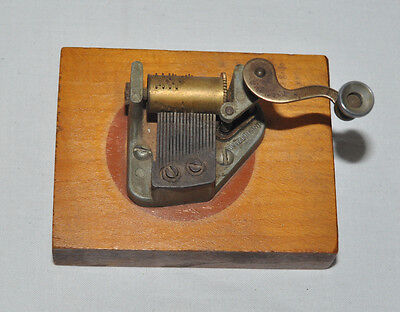 Unique Vintage Mini Music Box  Mechanical Switzerland