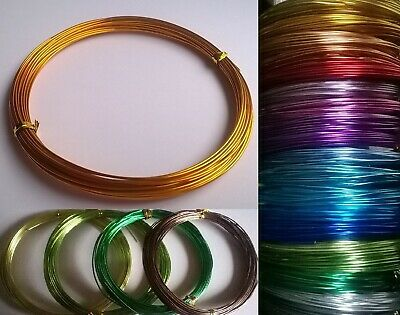 0.8mm 1mm 2mm Aluminium Craft Beading Wire Jewellery Making  1m, 10m, 20m, 50m