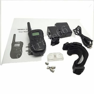Waterproof LCD Remote Rechargeable Shock Dog Training Collar Electric Trainer Ba