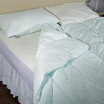 Waterproof and Wipe Clean Duvet and Pillow Set Double 200 x 200cms