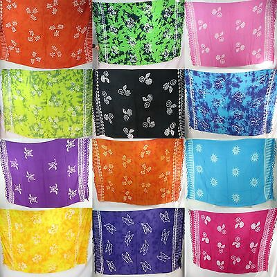 5pcs Bali rayon sarong bulk wholesale hippie clothing pareo sunblock beach