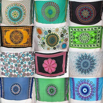 10pcs boho hippie mandala sarong yoga meditation tapestries wholesale