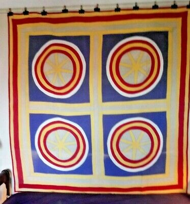 HEX SIGNS Quilt, from Pennsylvania, c 1920, Cottons