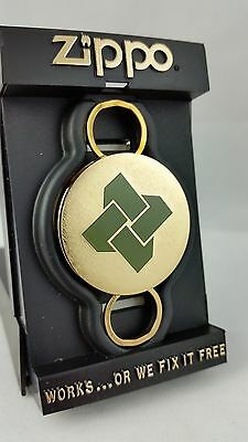 ZIPPO KEY RING HOLDER ADVERTISING FIRST NATIONAL BANK NEW IN ORIGINAL BOX #5990G