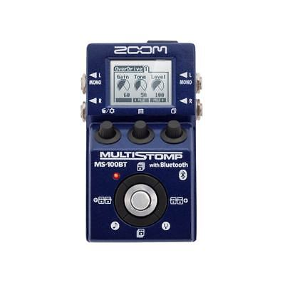 Zoom MS-100BT Bluetooth Guitar Multi Effects Pedal