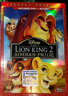 The Lion King II: Simba's Pride (Blu-ray/DVD, 2012, 2-Disc Set, Special...