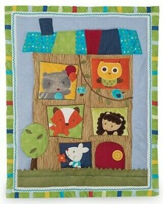 LITTLE TREE HOUSE Owl Fox BABY COT/TODDLER BED SHEETS,COMFORTER,BLANKET BNIP
