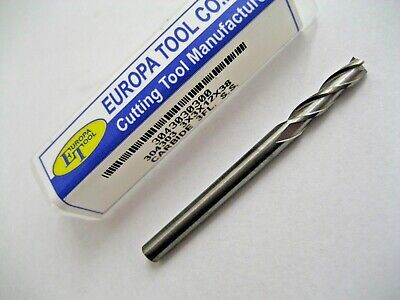 3mm SOLID CARBIDE 3 FLUTED SLOT DRILL / END MILL EUROPA TOOL 3043030300  #44