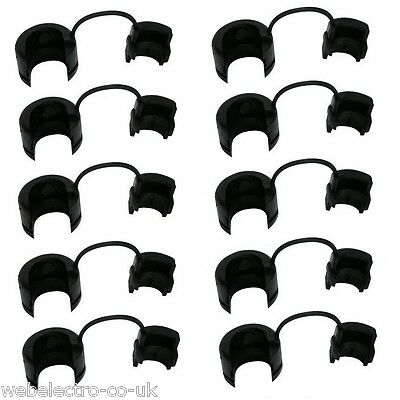 05580 10 Pcs. Black Strain Relief Bush Grommet for Max. 12.4 mm Round Cables