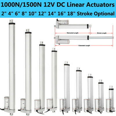 12V Linear Actuator Electric Motor 220lbs 100KG Max Load Door Opener Car Lifting