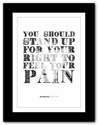 Jim Morrison ❤ typography quote poster art limited edition print The Doors #36